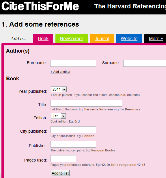 bib   CiteThisForMe: Quickly Generate Bibliography Based On Harvard Referencing Style