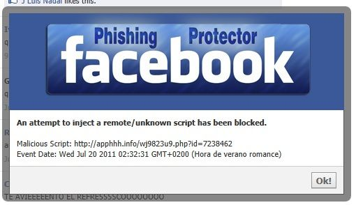 facebook phishing scams and hacking
