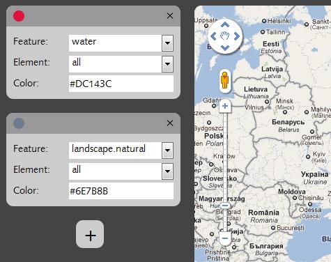customize google map colors