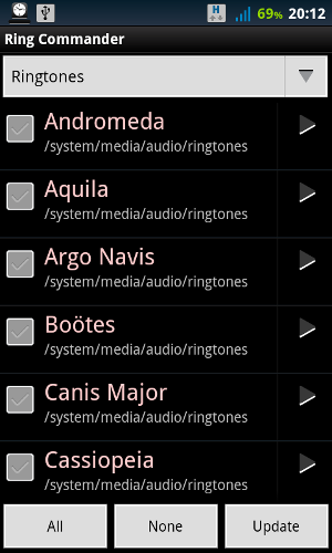 manage ringtones android