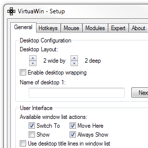 VirtuaWin – A Lean Mean & Free Virtual Desktop Manager [Windows]