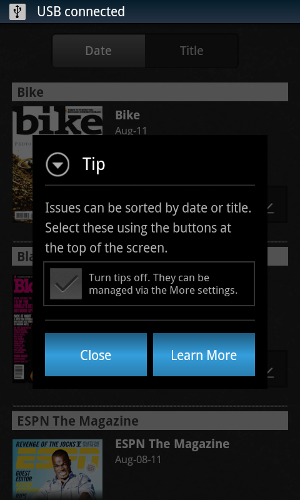 android magazine reader