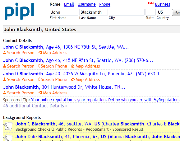 Search engine dedicated for people searches lets you lookup people