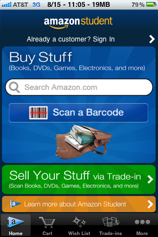 Amazon Launches New iPhone App Geared Towards Students [iOS News] student