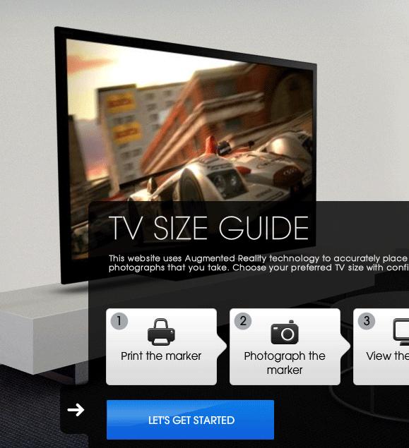 determine best tv size