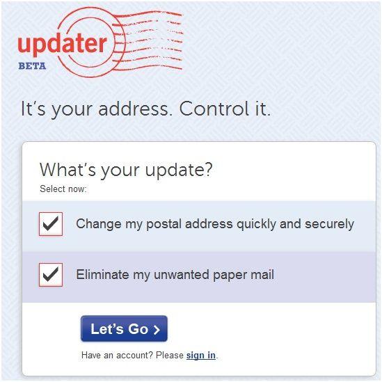 change your postal address online