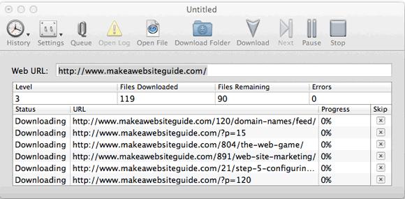 download whole websites