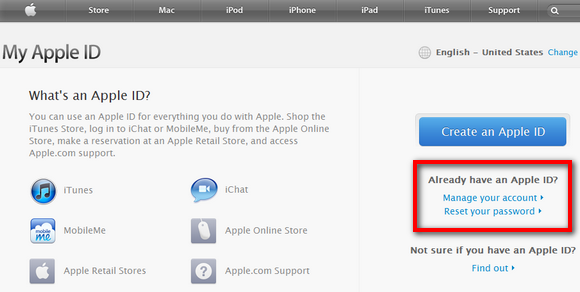 how to change apple id