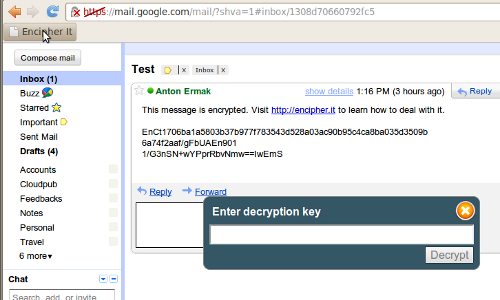 encrypt gmail messages