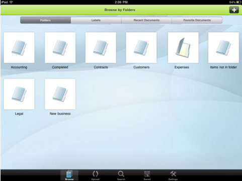 scan documents to ipad