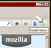 disable firefox history