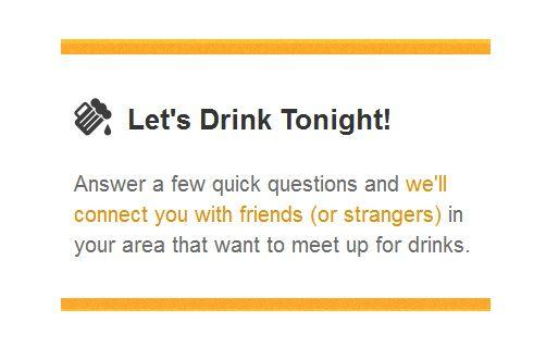 find new drinking buddies