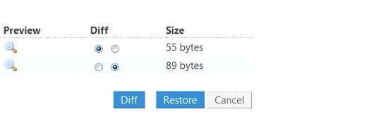 compare file versions