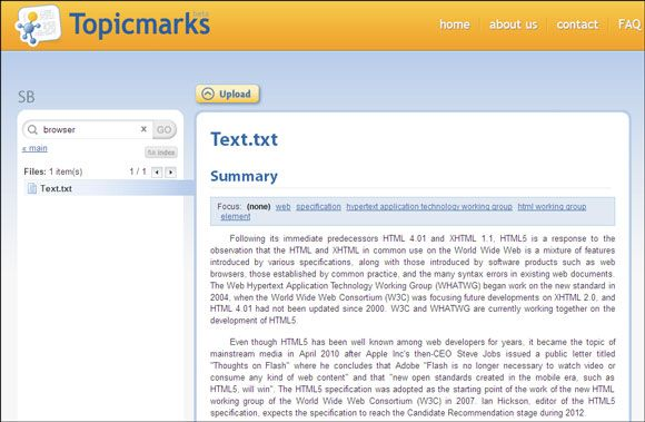 text summarizer