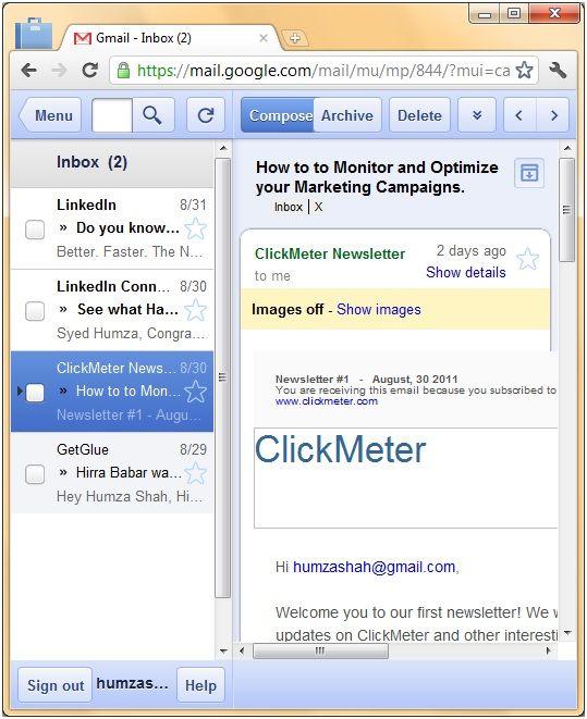 read your gmail offline
