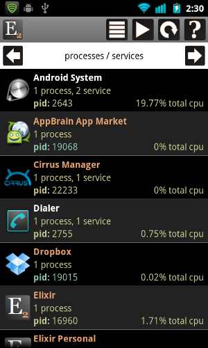 system information android