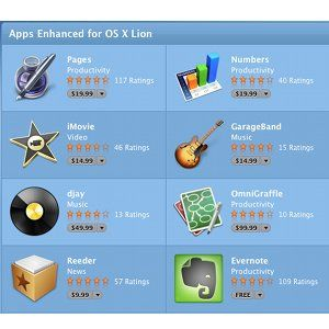 'Apps Enhanced For OS X Lion' Receive Special Treatment In The App Store [News]