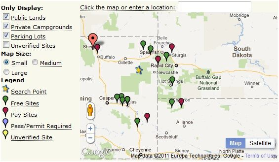 map   FreeCampsites: Discover Nearby Campsites (US & Canada)