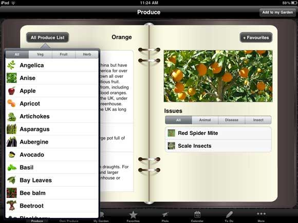 3 iPad Apps For Growing a Vegetable Garden planner produce list