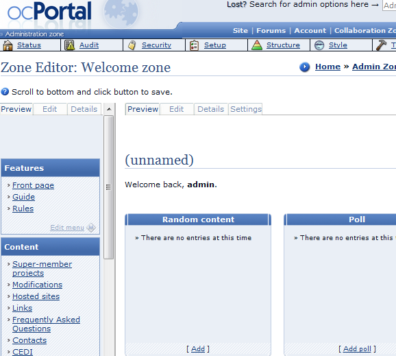 Quickly Set Up Your Own Home Intranet With ocPortal portal11