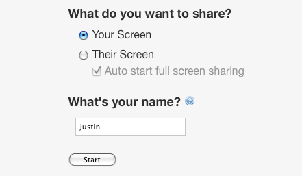 screen sharing app