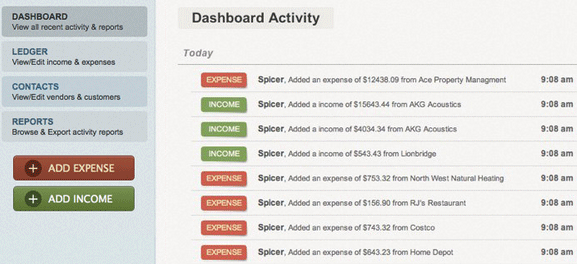 manage company finances online