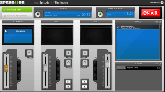 broadcast your own online radio show