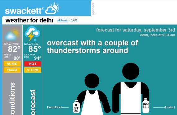 a weather app