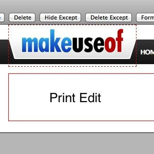 Remove Unnecessary Page Elements Before Printing With Print Edit [Firefox]