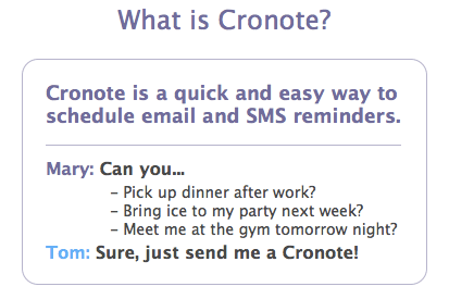 Cronote: Scheduled Email & SMS Reminder 1025