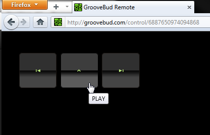 control grooveshark with phone