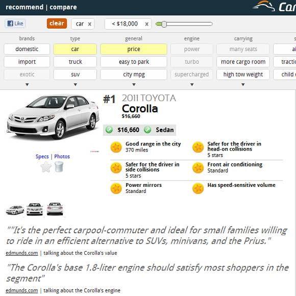 car comparison websites
