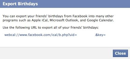 facebook birthdays in google calendar