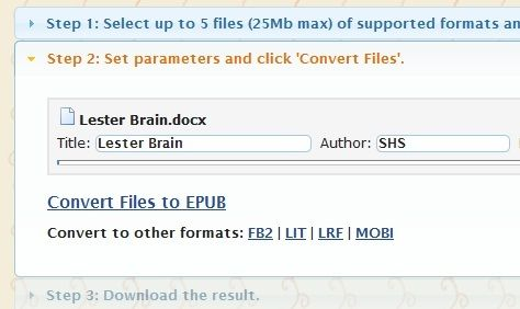 File   2epub: Easily Convert Documents To ePub Format