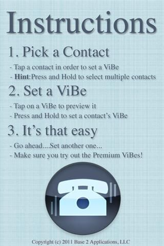 Instructions   ViBe: Get Specific Vibration Patterns On Your Phone For Specific Callers [Android 2.1+]