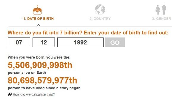 Population Count   World At 7 Billion: Out of 7 Billion, Which One Are You?