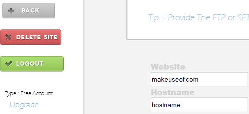backup your websites