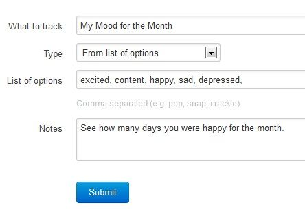 track your happiness