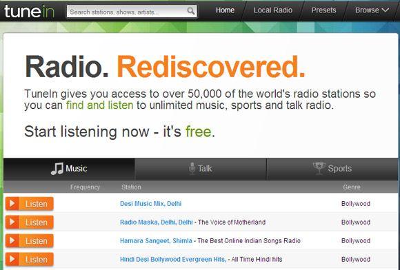 Tune Into TuneIn Online Radio & Listen to Unlimited Music