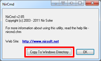 copy file to windows directory
