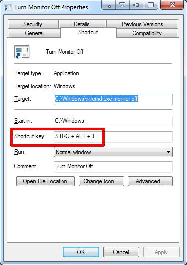 создать горячую клавишу в Windows 10