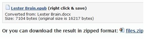 Zip   2epub: Easily Convert Documents To ePub Format