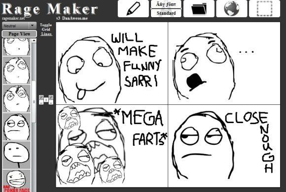create rage face