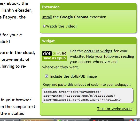 save webpage as epub