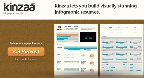 kinzaa  create visually appealing resumes online