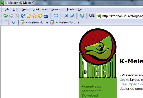 Is The K-Meleon Browser Really Lightweight & Fast? K Meleon Browser Logo