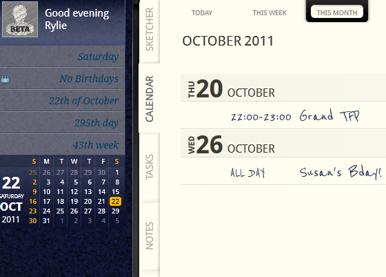 organize your schedule events
