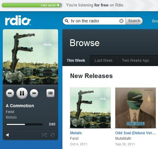 Rdio Now Offers Free (Limited) Streaming Music [News] rdio