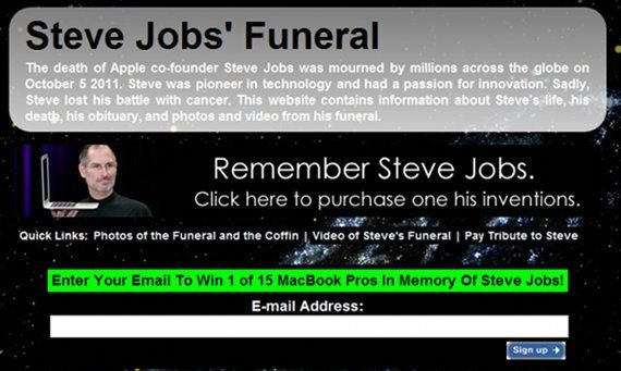 Steve Jobs Scams Spread Via Social Networking [News] stevejobsnews1