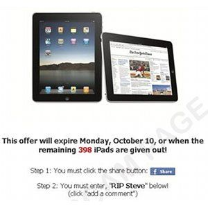 Steve Jobs Scams Spread Via Social Networking [News]